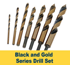 Black and Gold Drill Set
